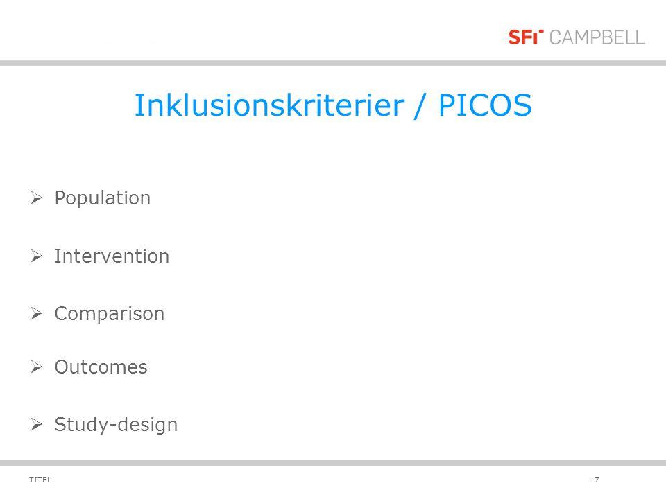 Inklusionskriterier / PICOS