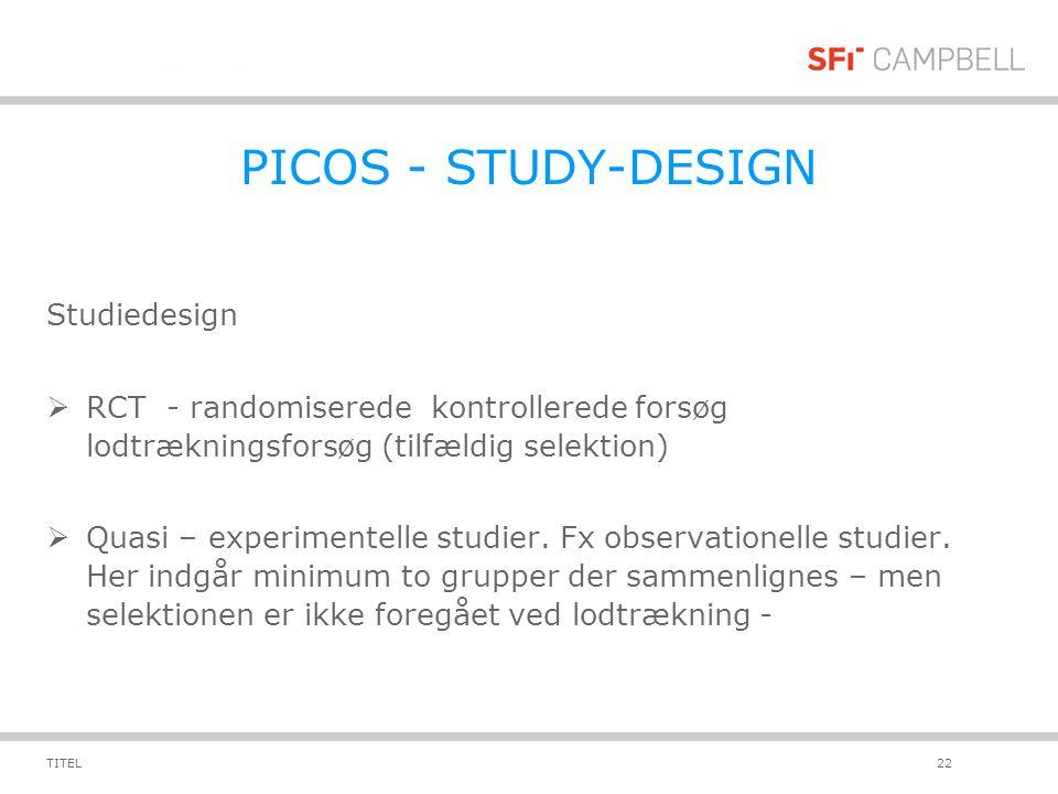 PICOS - STUDY-DESIGN Studiedesign