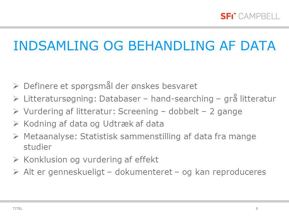 INDSAMLING OG BEHANDLING AF DATA