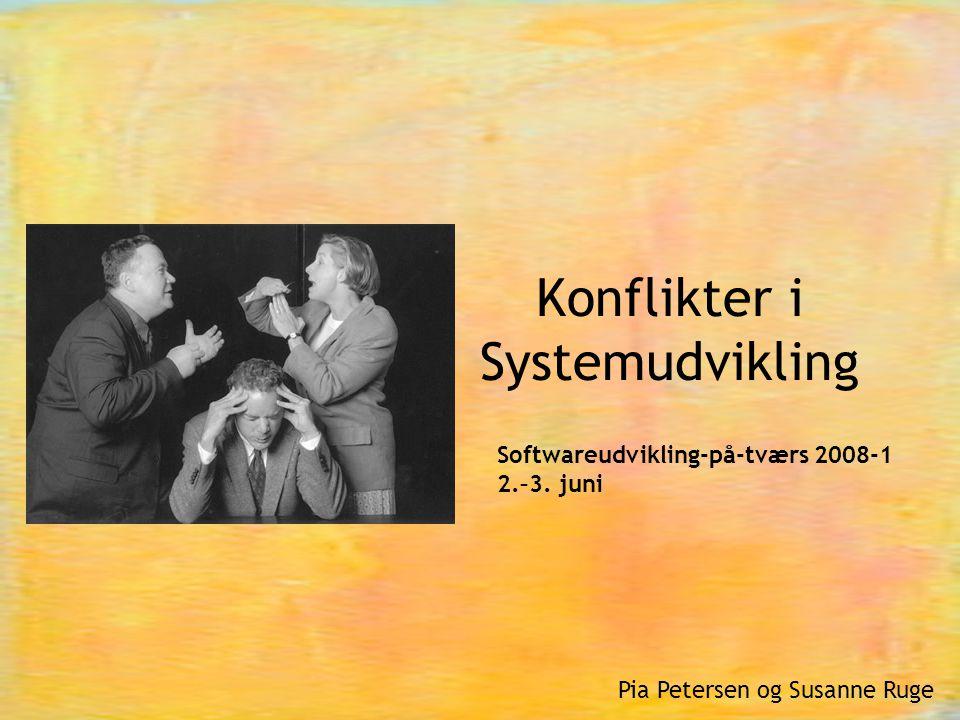 Konflikter i Systemudvikling