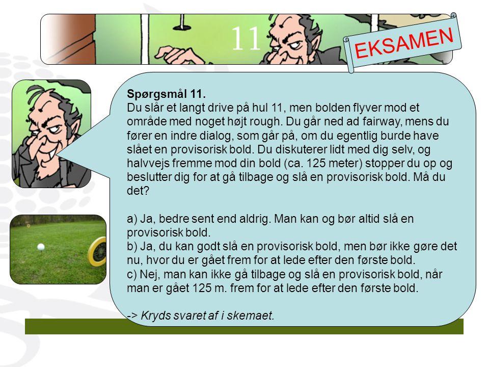 11 EKSAMEN. Spørgsmål 11.