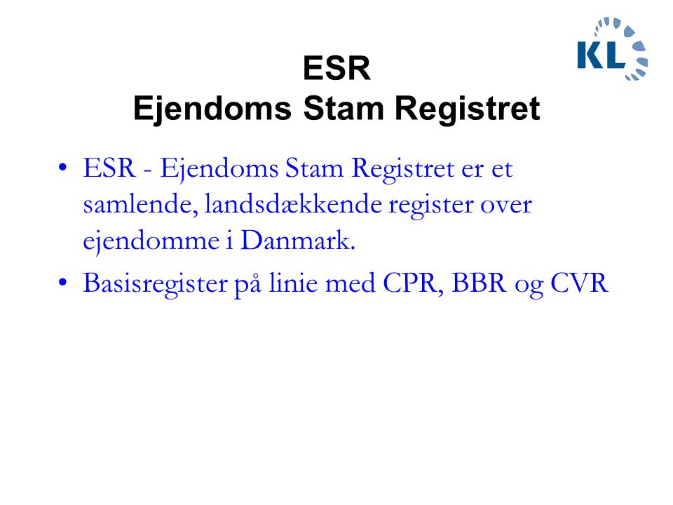ESR Ejendoms Stam Registret