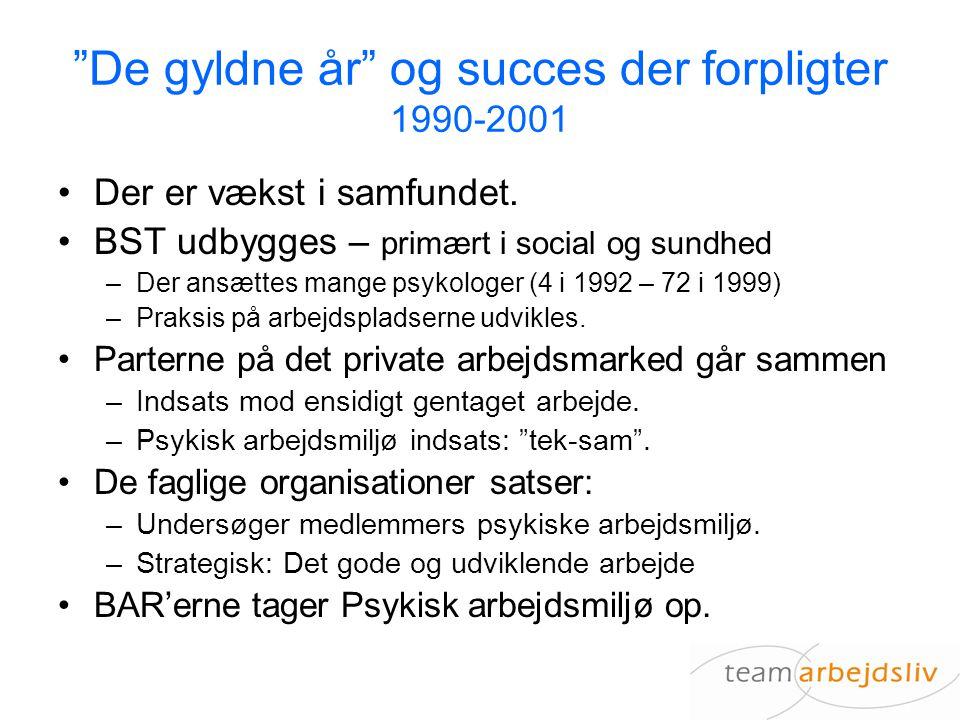 De gyldne år og succes der forpligter 1990-2001