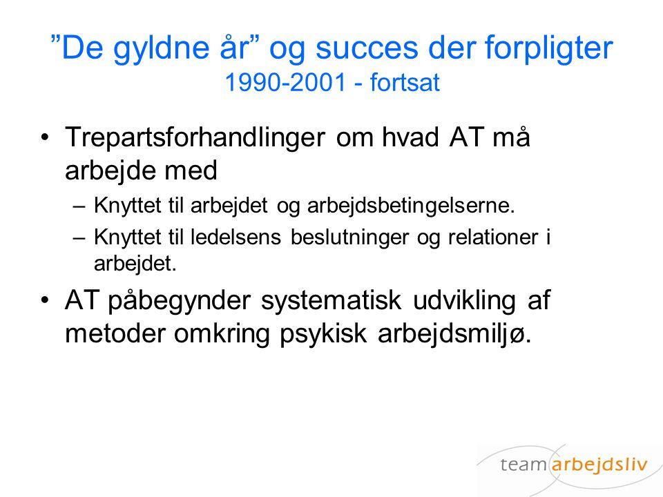 De gyldne år og succes der forpligter 1990-2001 - fortsat