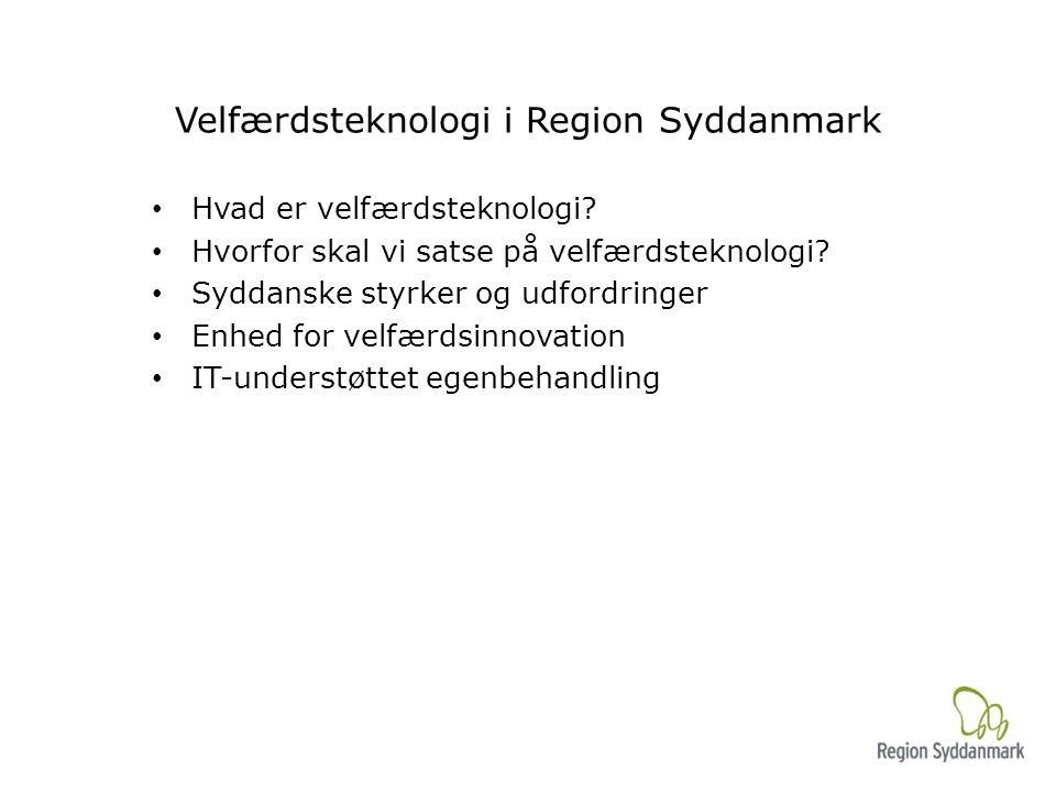 Velfærdsteknologi i Region Syddanmark