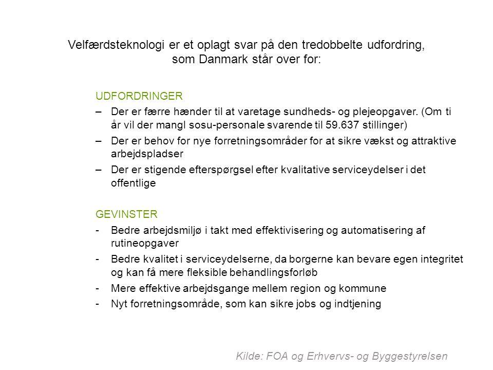 Velfærdsteknologi er et oplagt svar på den tredobbelte udfordring, som Danmark står over for: