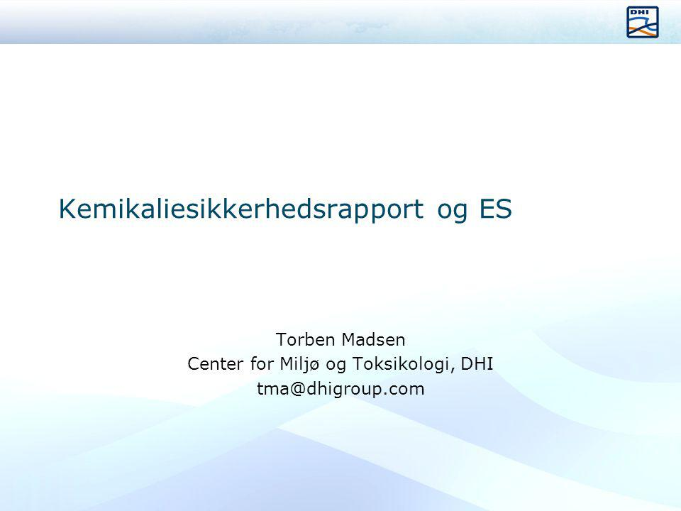 Kemikaliesikkerhedsrapport og ES