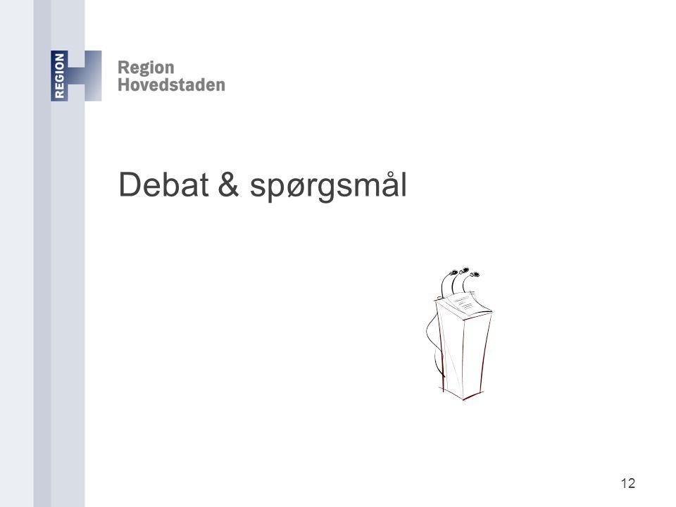 Debat & spørgsmål 12