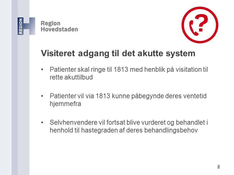 Visiteret adgang til det akutte system