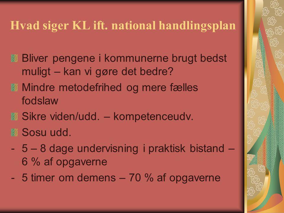 Hvad siger KL ift. national handlingsplan
