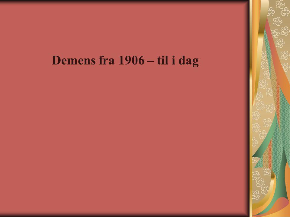 Demens fra 1906 – til i dag