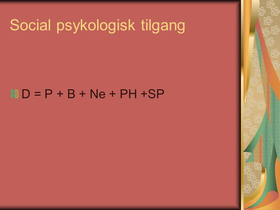 Social psykologisk tilgang