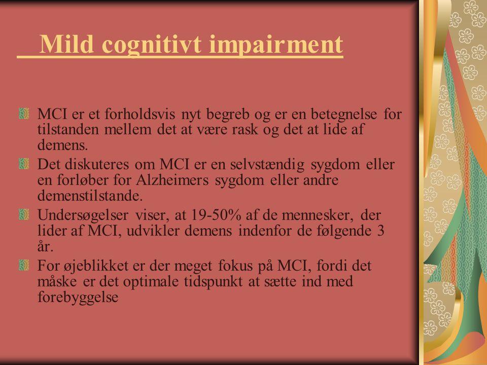 Mild cognitivt impairment