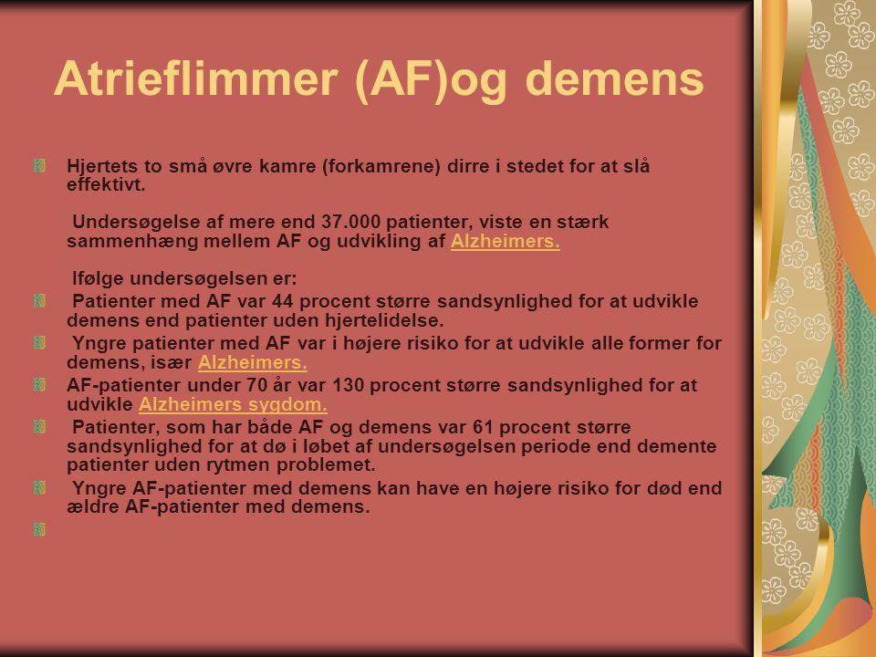 Atrieflimmer (AF)og demens