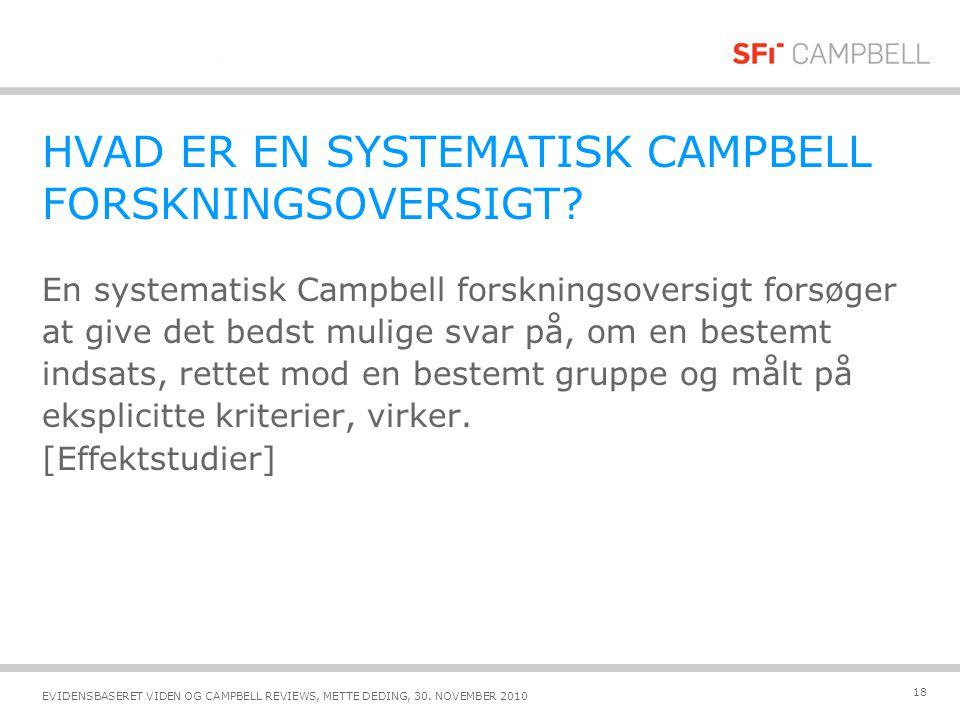 HVAD ER EN SYSTEMATISK CAMPBELL FORSKNINGSOVERSIGT