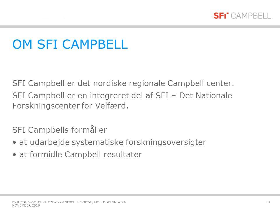 OM SFI CAMPBELL SFI Campbell er det nordiske regionale Campbell center.