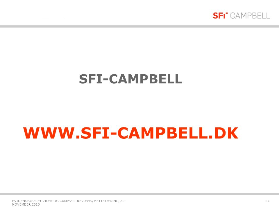 WWW.SFI-CAMPBELL.DK SFI-CAMPBELL Jeg er her fordi……