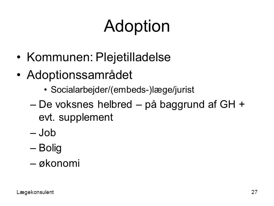 Adoption Kommunen: Plejetilladelse Adoptionssamrådet