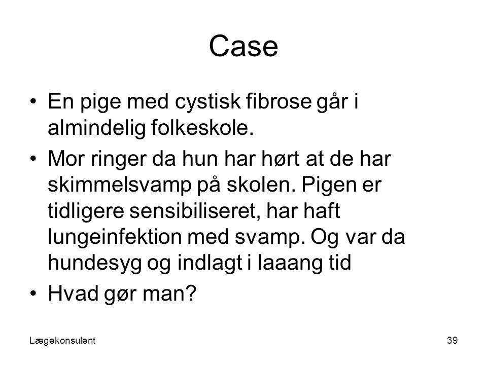 Case En pige med cystisk fibrose går i almindelig folkeskole.