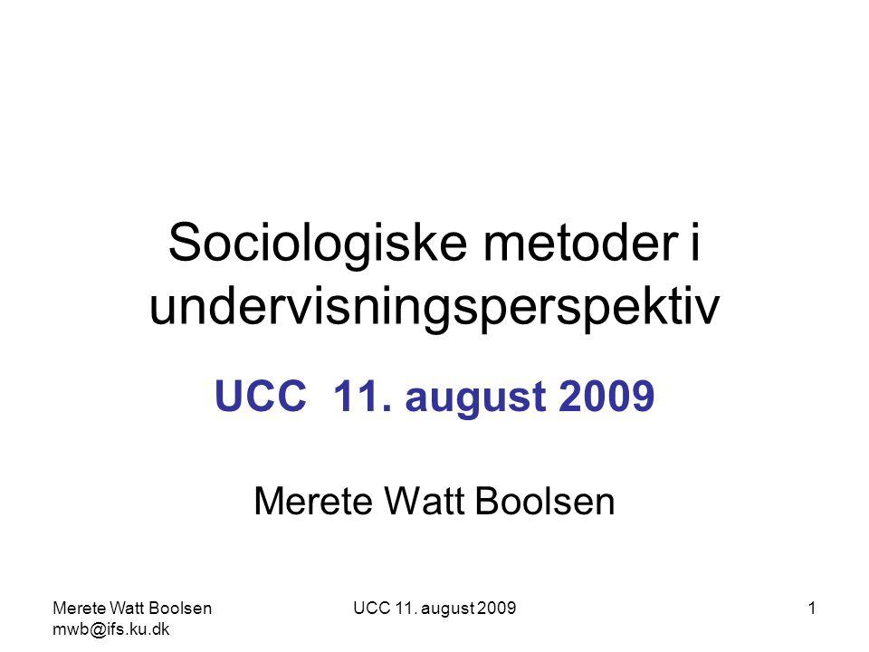 Sociologiske metoder i undervisningsperspektiv