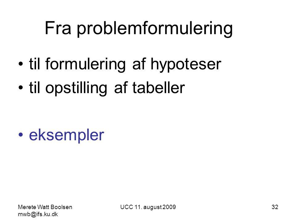 Fra problemformulering