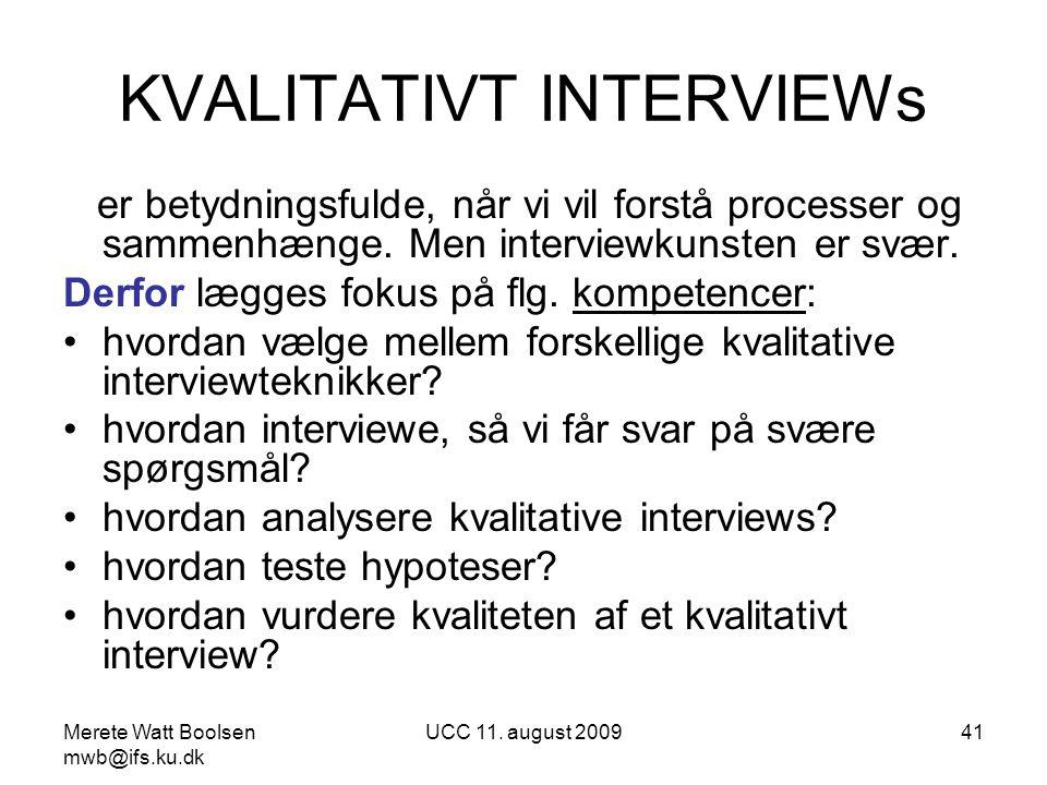 KVALITATIVT INTERVIEWs