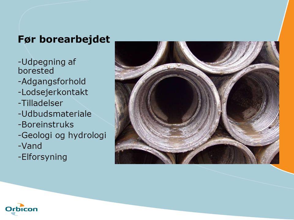 Før borearbejdet -Udpegning af borested -Adgangsforhold