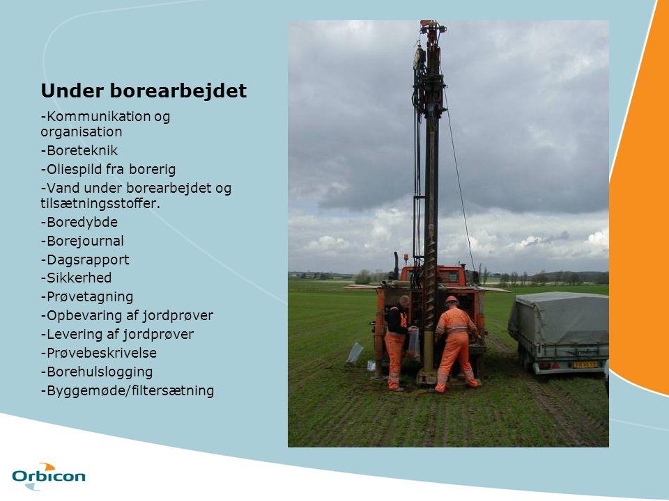 Under borearbejdet -Kommunikation og organisation -Boreteknik