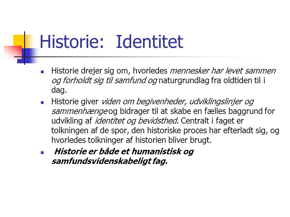 Historie: Identitet