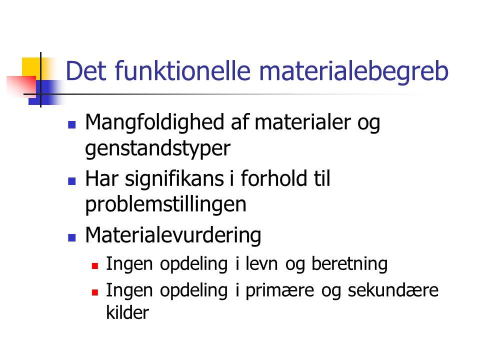 Det funktionelle materialebegreb
