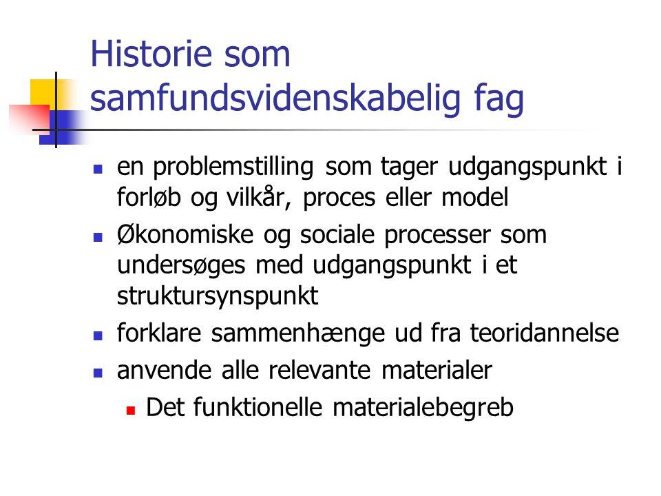 Historie som samfundsvidenskabelig fag