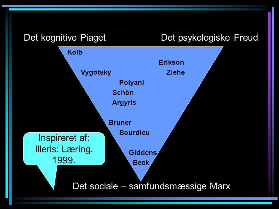 Inspireret af: Illeris: Læring. 1999.
