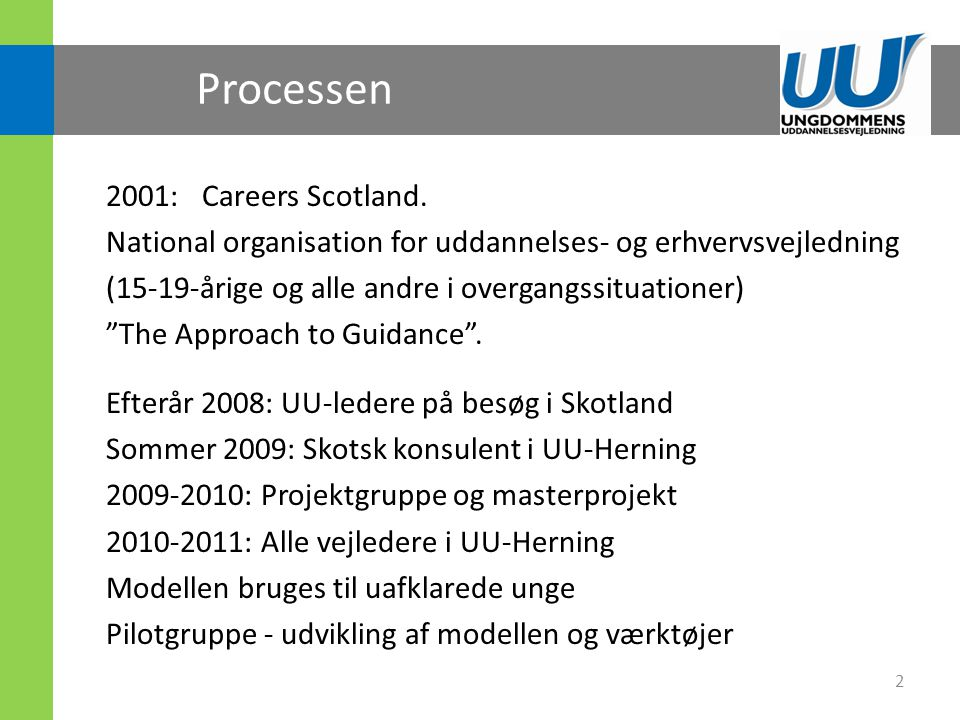 Processen 2001: Careers Scotland.