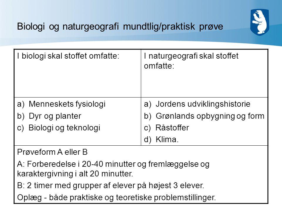 Biologi og naturgeografi mundtlig/praktisk prøve