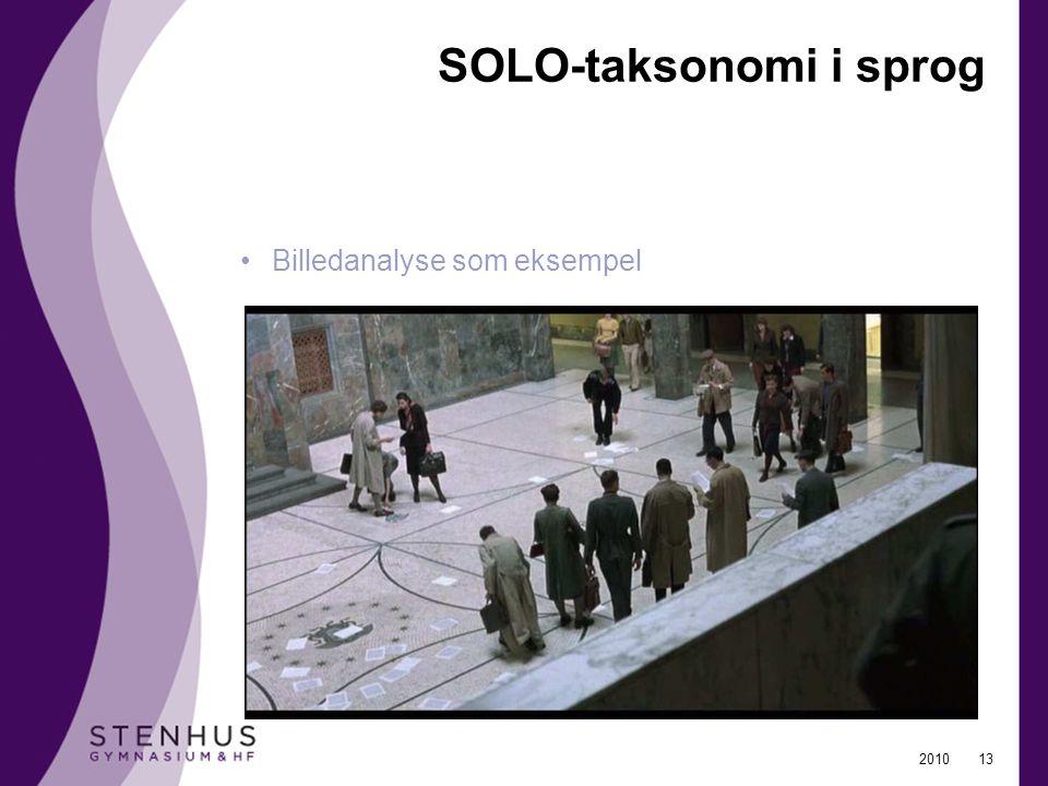 SOLO-taksonomi i sprog
