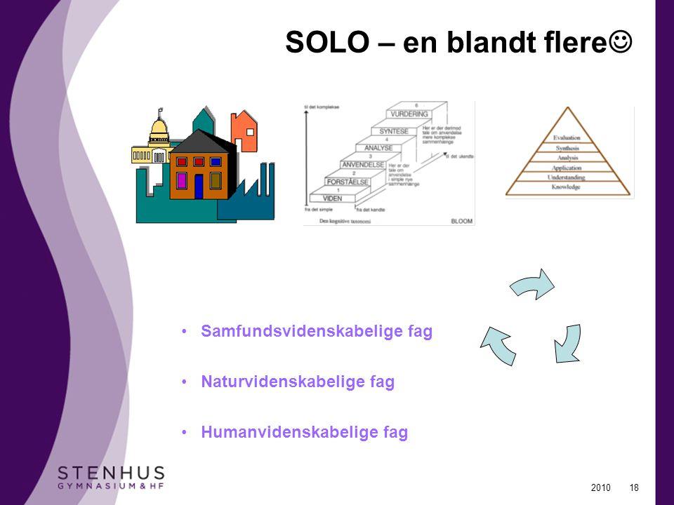 SOLO – en blandt flere Samfundsvidenskabelige fag