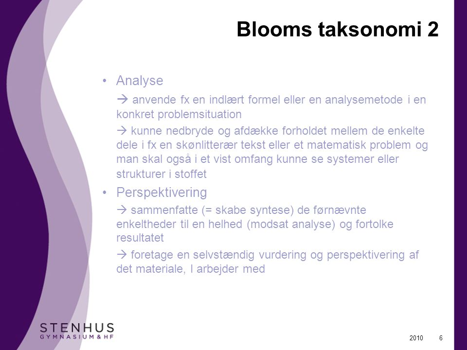 Blooms taksonomi 2 Analyse