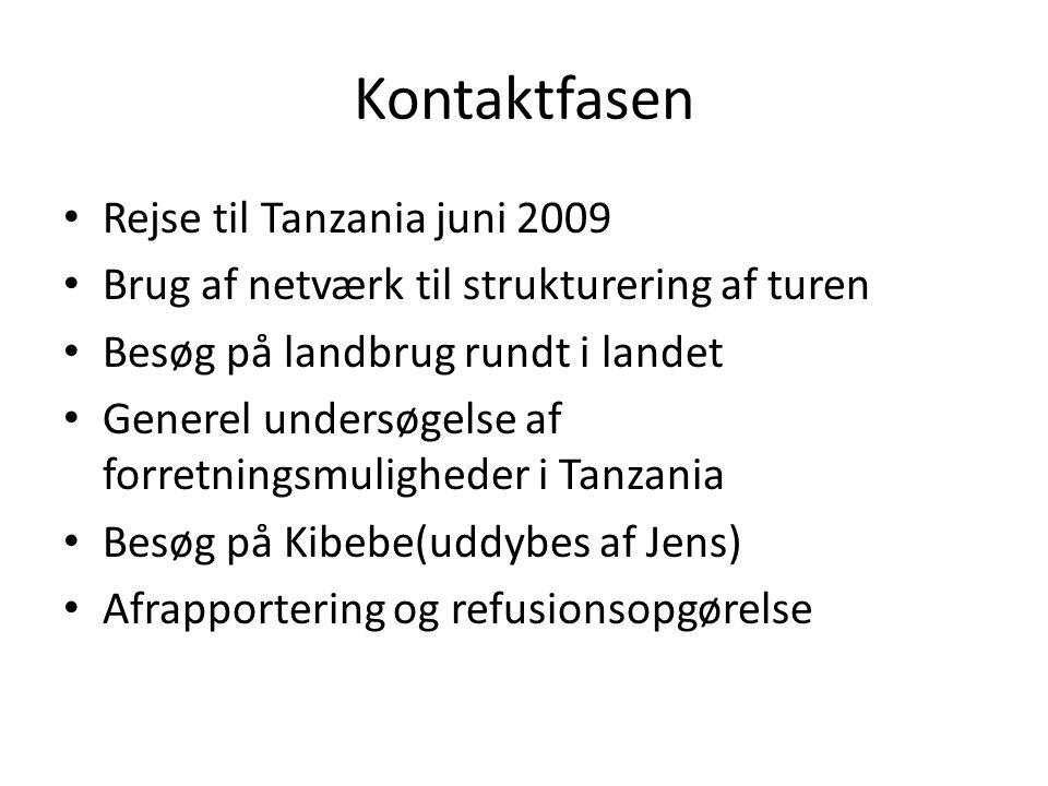 Kontaktfasen Rejse til Tanzania juni 2009
