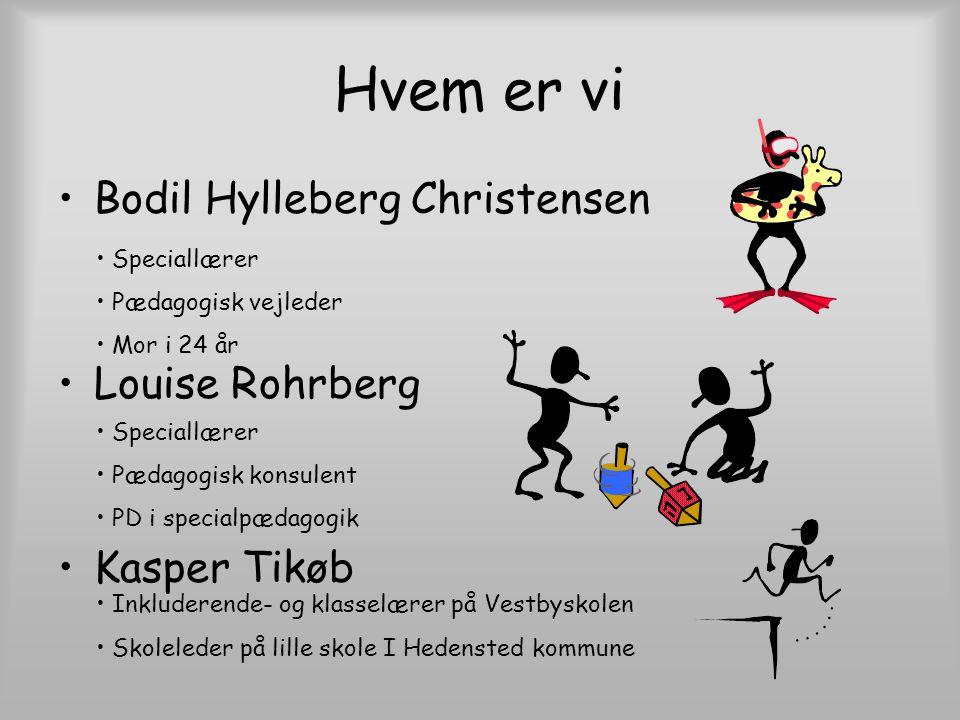 Hvem er vi Bodil Hylleberg Christensen Louise Rohrberg Kasper Tikøb