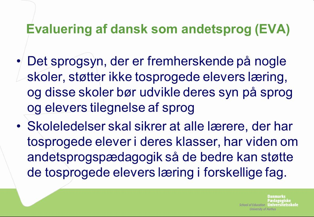 Evaluering af dansk som andetsprog (EVA)