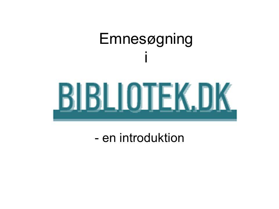 Emnesøgning i - en introduktion