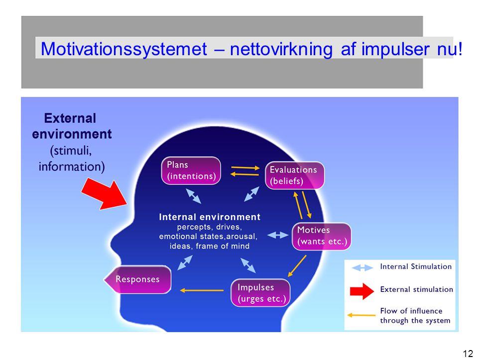 Motivationssystemet – nettovirkning af impulser nu!