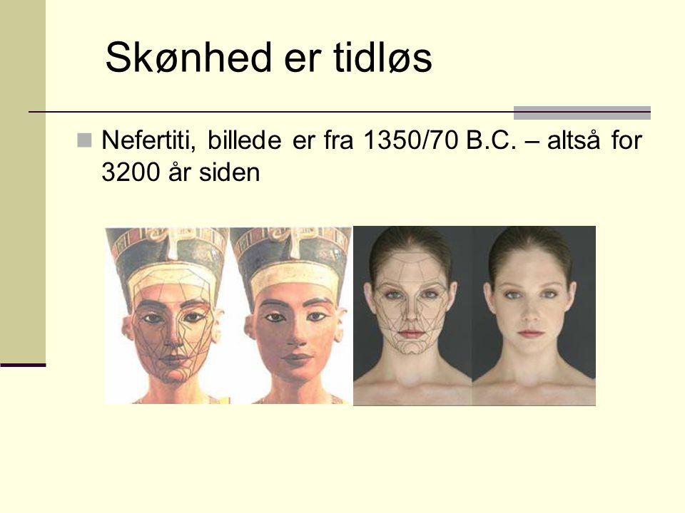 Skønhed er tidløs Nefertiti, billede er fra 1350/70 B.C. – altså for 3200 år siden