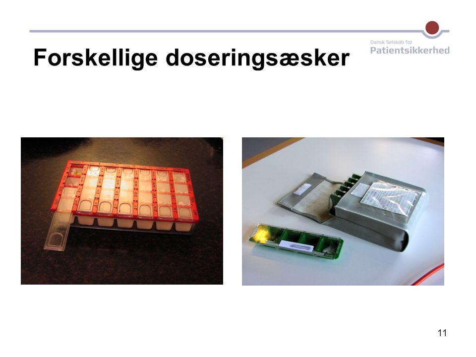 Forskellige doseringsæsker