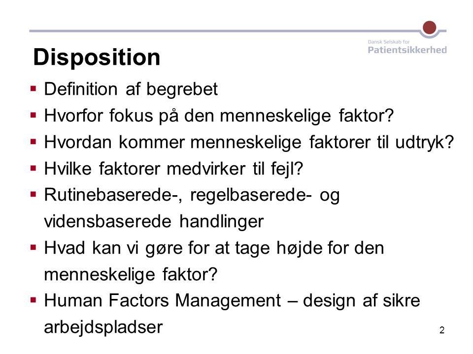 Disposition Definition af begrebet