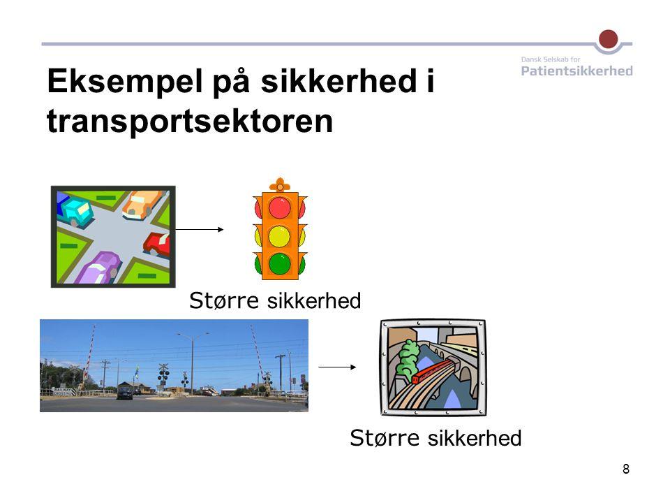 Eksempel på sikkerhed i transportsektoren