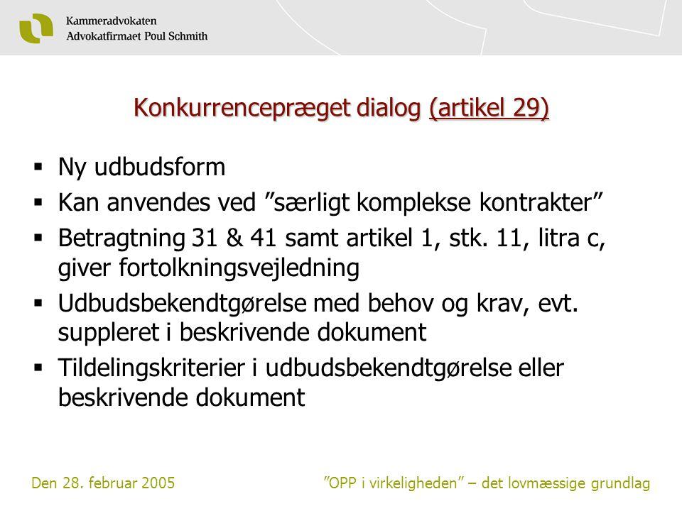 Konkurrencepræget dialog (artikel 29)