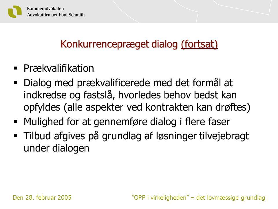 Konkurrencepræget dialog (fortsat)
