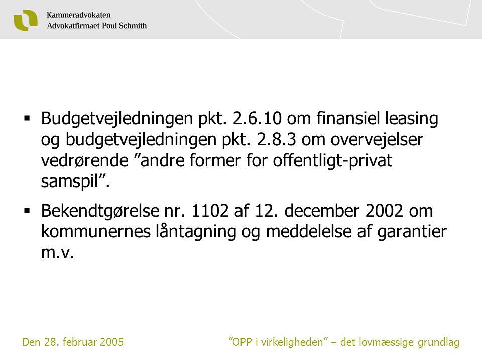 Budgetvejledningen pkt. 2. 6