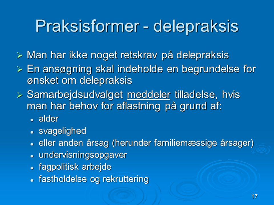 Praksisformer - delepraksis